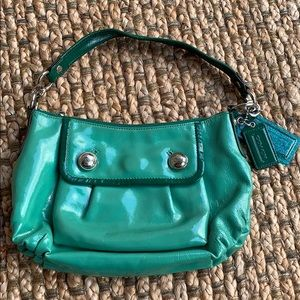 Coach • Poppy Groovy Patent Leather Hobo Bag